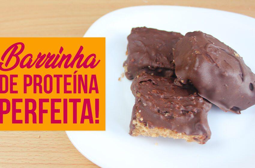 Barrinha de Proteína de Chocolate